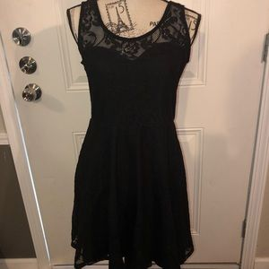 Black lace Material Girl Dress